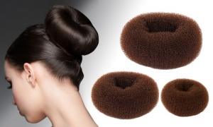 HAIR DOUGHNUTS - Available in 3 Sizes and 2 Colours