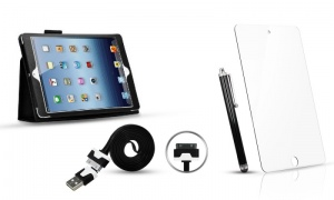 iPad Case + Screen protector + charge cable + stylus