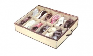 Under Bed Shoe Organiser with 12 sections