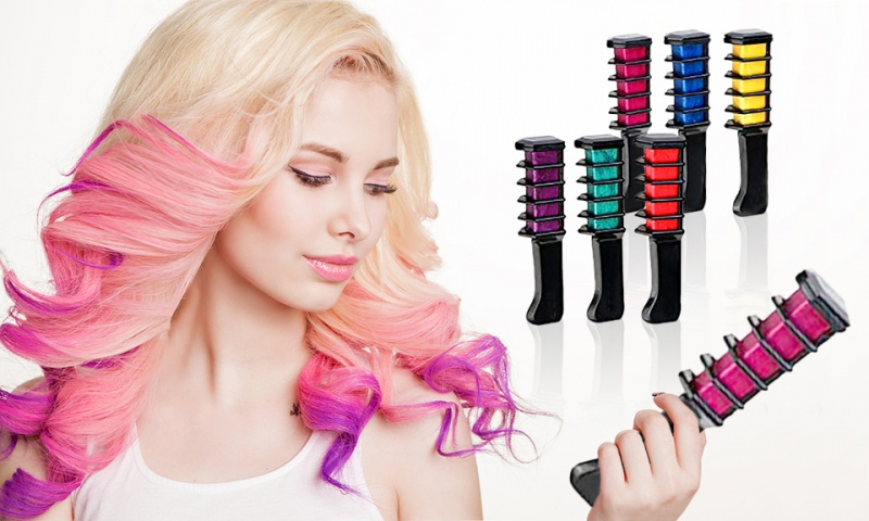 Hair Chalk Comb Shimmer Temporary Hair Color Cream 6pcs - Ebeez.co.uk