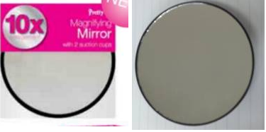 Mini Magnifying Mirror With Suction Cups Ebeez Co Uk