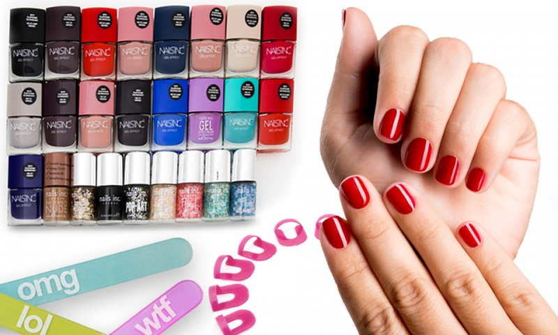 Glass Boxert Text Nail File Lucky Dip + Nails Inc nail polish + nail ...