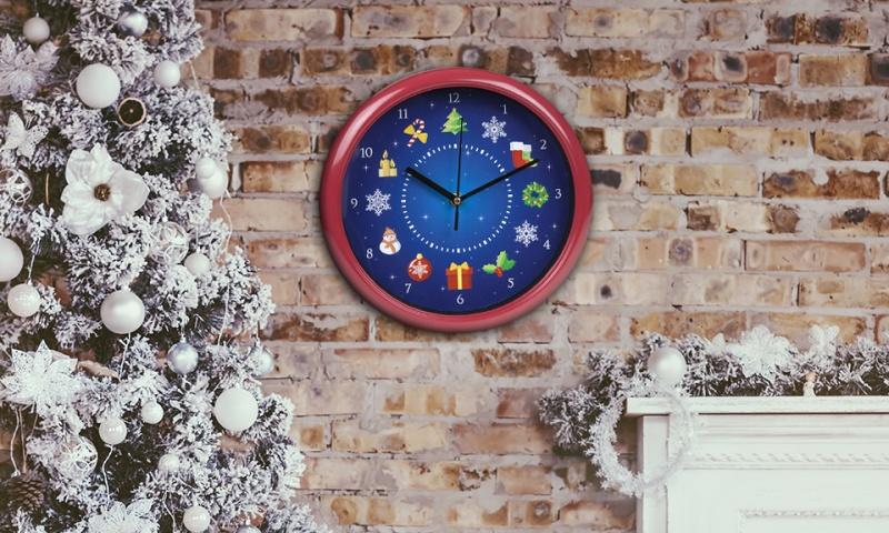 musical christmas wall clock - Musical Christmas Clock