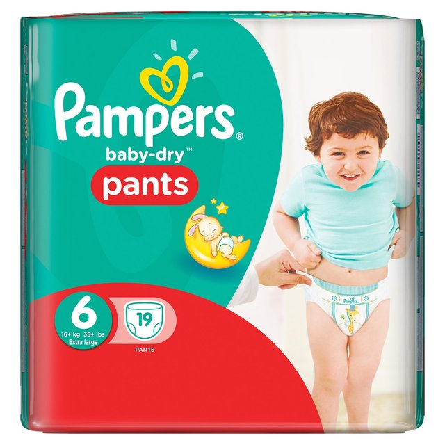 how to wear pampers pants