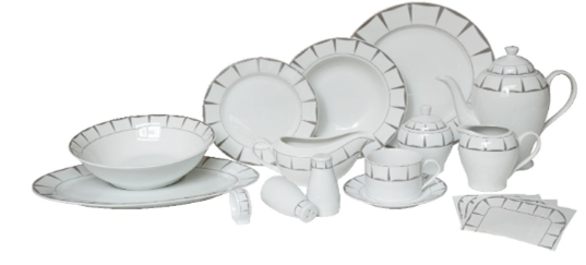 68pc Royalty Line Vellendorff Dinnerware Set - Available in White or Silver  sc 1 st  Ebeez.co.uk & 68pc Royalty Line Vellendorff Dinnerware Set - Available in White or ...