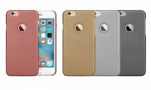Leather Feel Back Case for iPhone 6 or 7