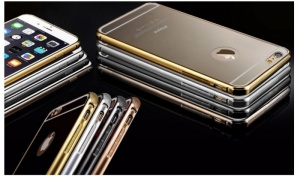 Aluminium Ultra Thin Mirror Metal Case for iPhone 5/5S, 6 or 6+ in Choice of Colour