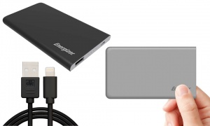 Energizer 4000mah Power Bank with 1m GVC Iphone cable