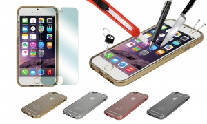 Hard Protective Metal Effect Case for iPhone
