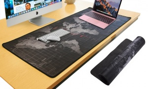 Durable Extended World Map Mousepad