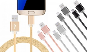 FX Braided USB Data Cable for Micro USB