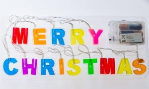 MERRY CHRISTMAS MULTI COLOUR LED LIGHTS