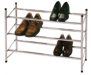 4 Tier Metal Extending Stackable Shoe Rack