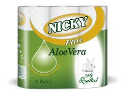 Nicky Aloe 45 Rolls Toilet Paper and Nicky Elite 3 Ply KitchenTowel - 15 Rolls