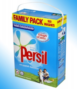 Persil Washing Powder Family Pack 100 Washes. Available in Bio, Non Bio and Colour Care