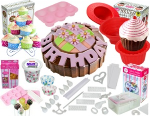 Deluxe 206pc cake and cupcake decorating kit