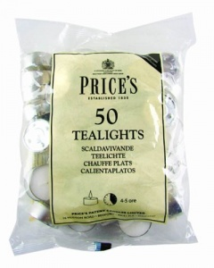 Prices Tealights White - Pack of 50