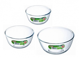 Pyrex Set of 3 Mixing Bowls