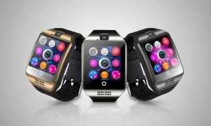 BaS-Tek Curved HD display Bluetooth Smart Watch
