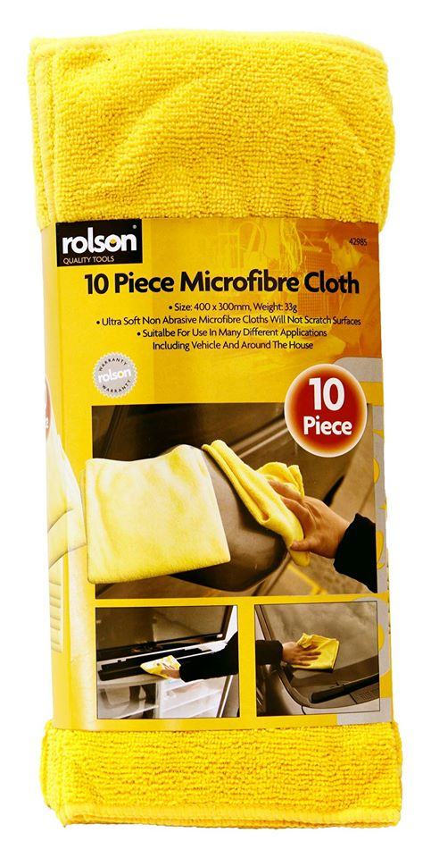 Rolson Large Microfibre Cloth 10pc