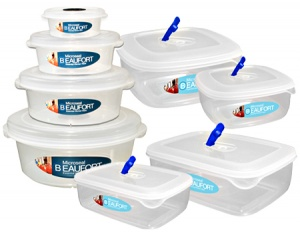 Food Storage Containers with Air Release Tab Set of 8