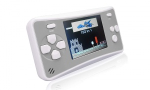 Handheld Console III- 152 Games silver/blue/ black (with RCA output)