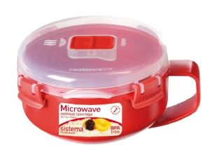 Sistema Oatmeal/Porridge Bowl - Red
