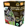 Stainless Steel Solar Powered Spotlights