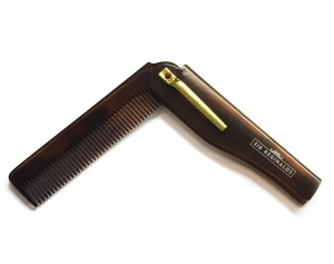 SIR REGINALDS FOLDABLE MOUSTACHE AND BEARD POCKET COMB