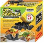 Non - Stick Steel Tortilla Pan with Sauce Bottle