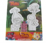 Trolls Pop Out Coloruing Figures