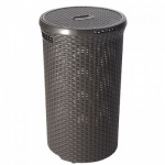 Curver Style Brown 48 Litre Rattan Laundry Hamper