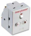3 Way Surge Protected Fused Adaptor