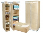 4 Piece Storage Set - Includes Single Wardrobe, Shoe Organiser, Sweater Organiser & Jumbo Storage Bag