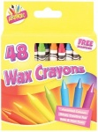 Artbox 48 wax crayons set of 48 assorted colours with sharpener