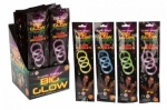 8'' Big 3pc Glow Bracelets (061/326) Assorted Colours