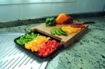 Jocca Bamboo chopping board with tray- (1635)
