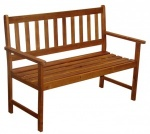 Traditional Two Person Wooden Bench