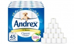 Andrex Classic Clean Toilet Tissue 45 rolls