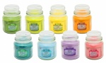 Arome Pur Coloured Scented Round Candle Jars - 2.8oz (Pack of 6)