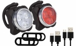 USB Rechargeable Waterproof Bicycle Light Set