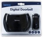 Benross Battery Operated Chime Doorbell with LED Bell Push - Black