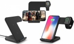 2 IN 1 Wireless Charger Stand Charger Docking Station Phone Holder