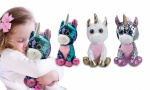 10'' Glitzies Sitting Unicorn  Magic Sequin Plush Assorted