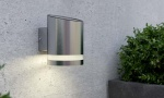 Haven Solar Powered Stainless Steel LED Wall Security Light