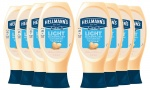 Hellmann's Light Squeezy Mayonnaise 430 ml - Pack of 8