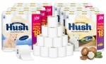 54 Hush Luxury 3Ply Toilet Tissue Paper Rolls
