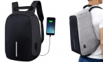 Anti Theft Backpack with charger and cable