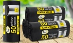 50 Black Refuse Sacks- 50L