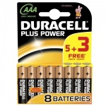 Duracell Plus Power AAA Batteries - Pack of 8